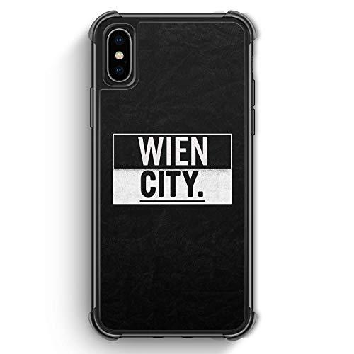 Wien City - Bumper Silikon Hülle für iPhone XS Max Rundumschutz Cover - Motiv Design Vienna Österreich Austria - Handyhülle Schutzhülle Case Schale