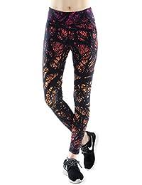 Das leben Legging de Sport Femme Pantalon de Sport Multicolore Fantastique pour Course Yoga Pilate Gymnase