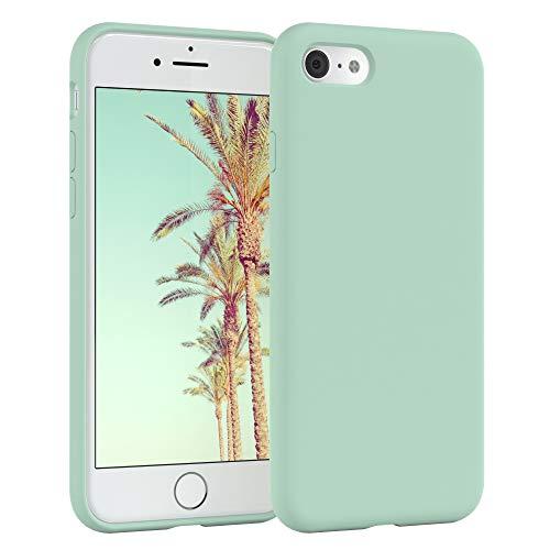 EAZY CASE Premium Silikon Handyhülle kompatibel mit Apple iPhone 7/8, Slimcover mit Kameraschutz & Innenfutter, Silikonhülle, Schutzhülle, Bumper, Handy Case, Hülle, Softcase, Mint Grün