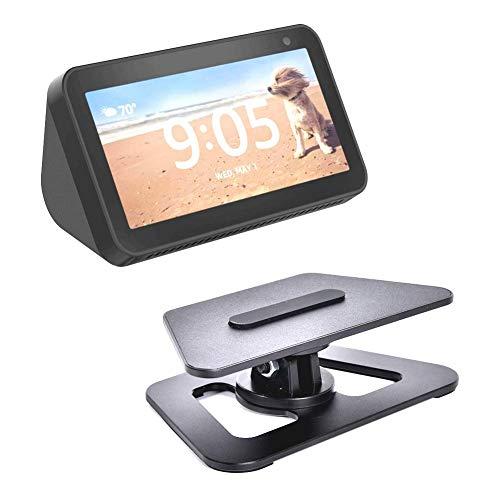 Lightcolor Verstellbare Standhalterung Tragbare Desktop-Tischhalterung Zubehör Vollständig aus Aluminium gefertigte rutschfeste Basis für Echo Show 5 Smart Home-Sprachassistenten