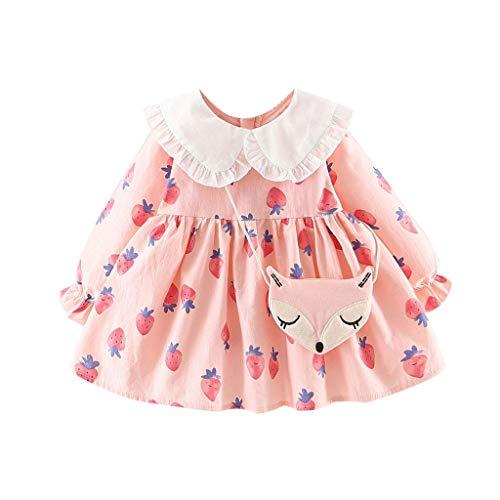 Livoral Halloween Kleinkind Baby Mädchen Baumwolle Kürbis Kostüm Kleider Outfits Kleidung Sets Kleider+ Stirnband | Halloween Toddler Infant Baby Girls Pumpkin Romper (12M-73)(Rosa,80)