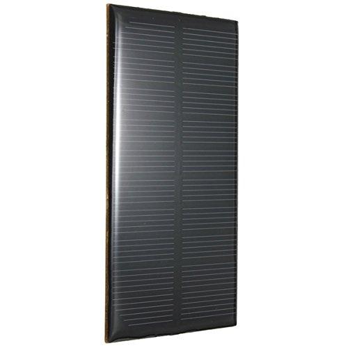 Panel solar de 5V 1W Alto índice de conversión, salida de la eficacia alta Excelente efecto de luz débil Conveniente para cargar el teléfono móvil y las pequeñas baterías de la c.c Construya sus modelos accionados DIY, exhibición solar, luz solar y j...