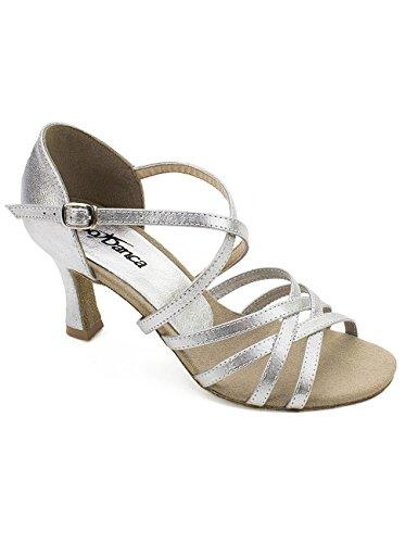 So Danca Damen Bl164 Standard-& Latintanzschuhe, Silber Silver, 37 EU