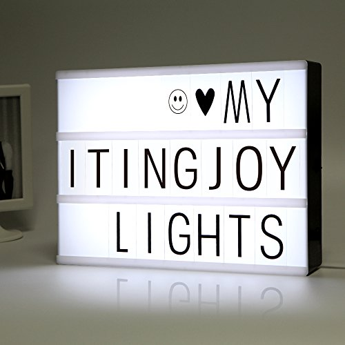 LED Light Box formato A4, LitEnergy LED Message Box con 90 lettere e simboli neri
