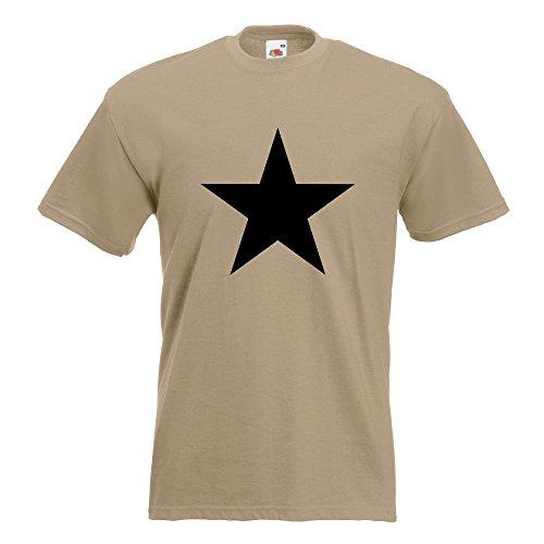 KIWISTAR - Stern Star Symbol T-Shirt in 15 verschiedenen Farben - Herren Funshirt bedruckt Design Sprüche Spruch Motive Oberteil Baumwolle Print Größe S M L XL XXL Khaki