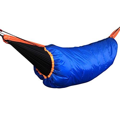 non-brand MagiDeal Hamac Léger Underquilt Camping Couette Pleine Longueur sous Couverture - Bleu