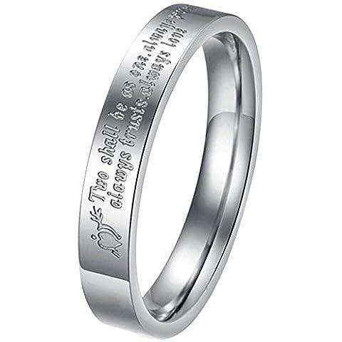 Aooaz Schmuck Unisex Ring,Klassische Herz Edelstahl Ring Silber