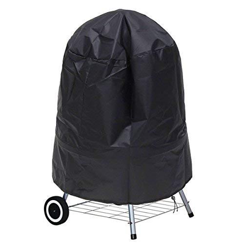 Ankier, copertura rotonda per barbecue, in poliestere impermeabile, con cordino di chiusura, larga 76,2cm (nera)