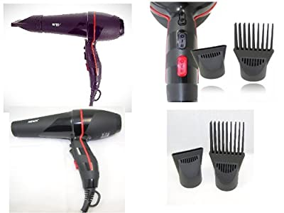 Afro Antilles Special Hair Dryer 2200 W with Comb -- UK 3-pin plug from pritech