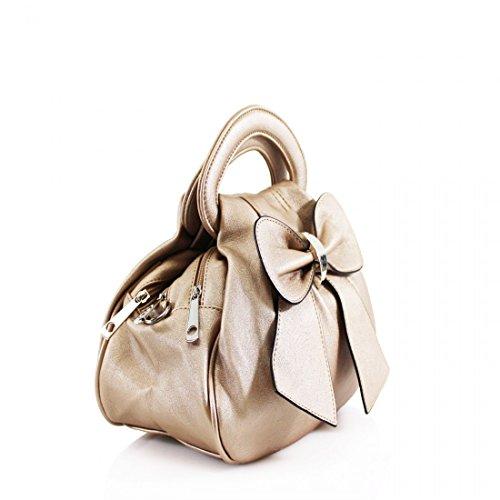 Elegant Fashions, Borsa a mano donna Grey