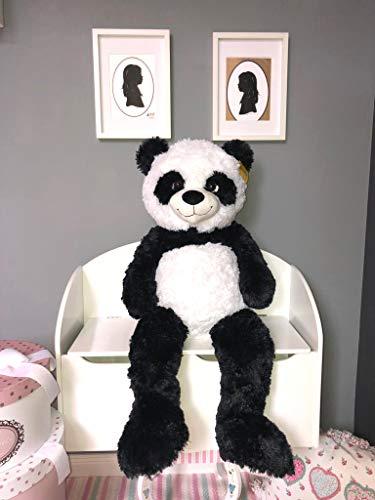 habeig XXL Kuscheltier 1m Tiger Panda Giraffe Koala Stofftier Plüschtier Sunkid (Panda)