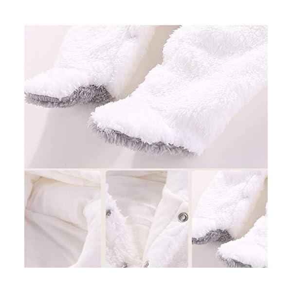 Haokaini – Traje de Nieve cálido para bebé Oso, Mono de Mameluco con Capucha de Felpa de algodón para niñas niño