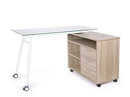 miko-escritorio-giratoria-vt-con-cajonera-hierro-cristal-templado