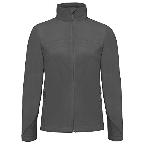 B&C Collection Womens Coolstar Microfleece Jacket Steel Grey