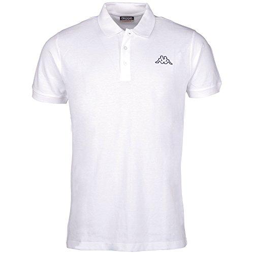 Kappa Peleot, Camiseta Deportiva Para Hombre, Blanco, M