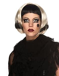 Lady Gaga Costume Accessory, Lady Gaga Black and Blonde Wig