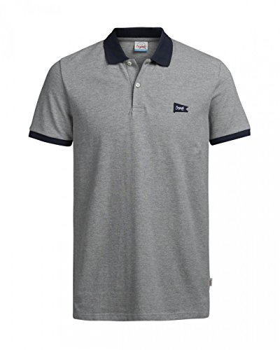 Jack & Jones Herren Poloshirt JORFOOTHILL POLO SS Light Grey Melange (12121127)