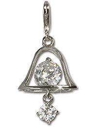 Sueño de plata{925} de ley Charm campana Colgante para pulsera cadena pendientes FC4108