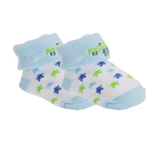 Universal Textiles Baby Jungen Socken mit Motiv (Einheitsgröße) (Flugzeug/Sterne)
