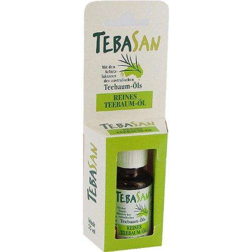 Amesbichler Tebasan reines Teebaumöl 10 ml vorbeugender Schutz bzw. Pflege bei: Hautirritationen, Mitessern, Pickeln, unreiner Haut, Lippenbläschen