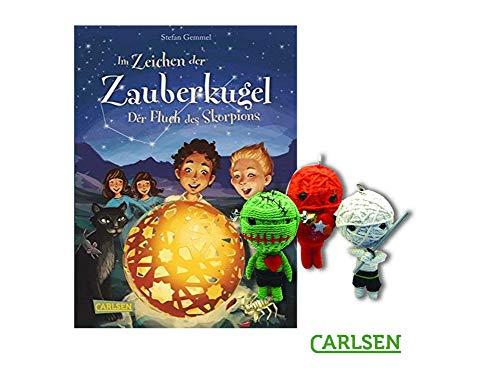 Carlsen Im Zeichen der Zauberkugel 2: Der Fluch des Skorpions (Gebundenes Buch) + 1. Coole Voodoo Puppe -