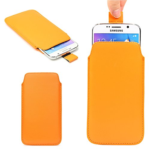 Original Urcover® Universal Schutzhülle [DEUTSCHER FACHHANDEL] Hülle Schale Pull Tab Etui Cover case Galaxy S7 Edge, S6 Edge Plus, iPhone 6 / 6s Plus Orange
