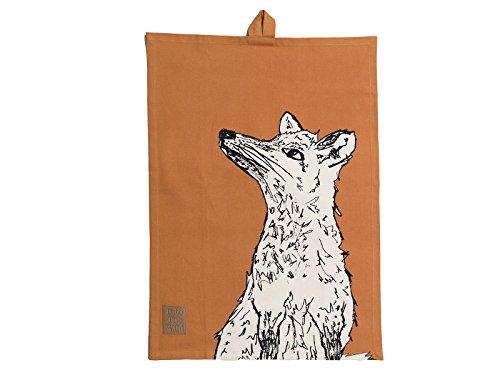 Creative Tops Into The Wild Geschirrtuch aus 100 % Baumwolle mit Fuchsdruck, 50 x 70 cm (19,5 x 27,5) - Orange (Leinen 100 Geschirrtücher)