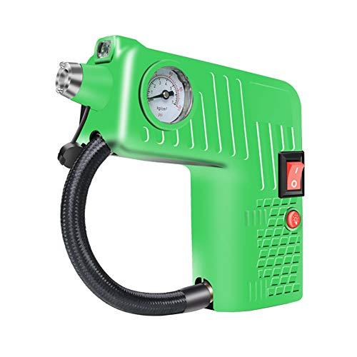 BYSK Luftkompressor, mechanische Uhrenlinie Länge 3m, elektrische 12v Portable Air Pumpe, geeignet für Auto/Geländewagen/Luftbett,Green