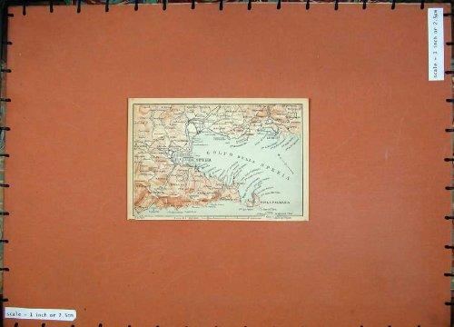 Mappa di Colore 1903 Italia Spezia Lerici Isola Palmaria