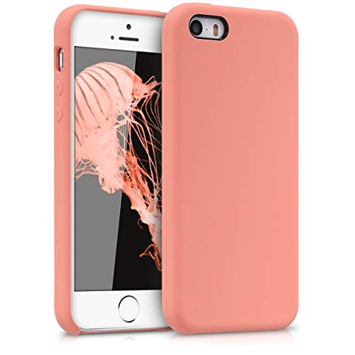 kwmobile Apple iPhone SE / 5 / 5S Hülle - Handyhülle für Apple iPhone SE / 5 / 5S - Handy Case in Koralle