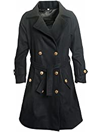 Prrem's Wool Long Trench Coat for Women