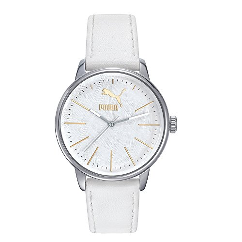 Puma Wristwatch for Unisex Leather White PU104292003