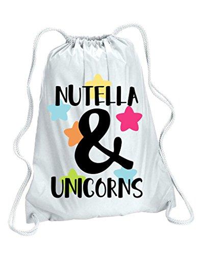 nutella-et-licornes-sac-de-sport-taille-unique-blanc