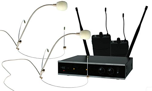 E-Lektron IU-2082H digital UHF Funkmikrofon System 2x Headset-Mikrofon drahtlos Set