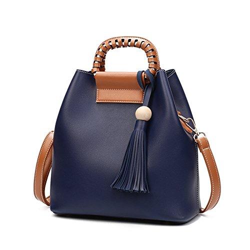 GUANGMING77 Tracolla Messenger Bag _ Tracolla Messenger Bag Benna Solido,Grigio Scuro blue
