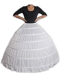 XYX Enaguas enagua de la boda accesorios de la boda Enaguas Falda paseo  vestido de novia de crinolina enagua prom deslizamiento 6-aro de… 082c11b2c106