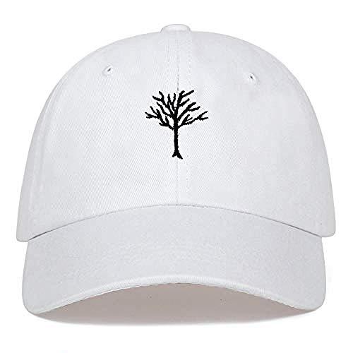 DWcamellia Hut Bestickte Mütze Lässige Hip Hop-Mütze Damen Herren S Cotton Baseball Cap Outdoor Golf Cap , Weiß