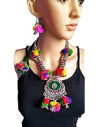 Indian Long Layers Necklace Set- Jewelry - Banjara Tribal Necklace Set - Navratri Jewellery- Garba Accessory/Necklace...