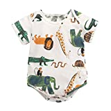 Softshell Overall Neugeborene Kurzarm Cartoon Print Strampler Overall Outfits Set