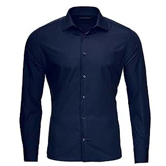 Bild nicht verfügbar. Keine Abbildung vorhanden für. Farbe: Kickdown Herren  Hemd Business Bügelleicht Privèe 10 Farben S-XXL (L, Dunkel Blau