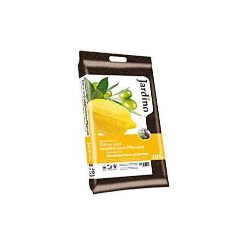 Jardino Premium Zitrus- und mediterrane Pflanzenerde mit 8-12 Wochen Dünger auch perfekt für Olivenbäume 20 Liter