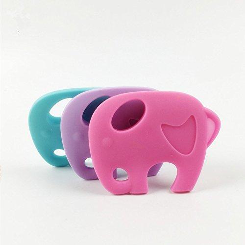 baby tete Baby Anhänger 5Pc Silikon Elefanten Silikon Teether BPA Free Chew DIY Handwerk Zubehör Baby Pram Spielzeug Zahnen