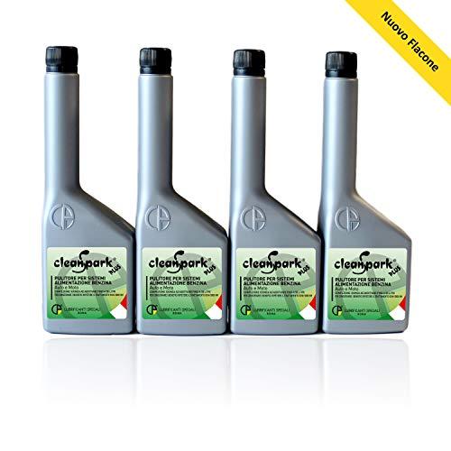 500 ML (4 Flaschen von 125 ml) CLEANSPARK PLUS Additiv Reiniger für Benzin motoren (Autos und Motorräder).