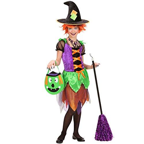 Kostüm Hexe Kinder Witch Hexen Halloween Horror Schloss Gothic Vampire (158) (Songs Für Halloween Hexe)