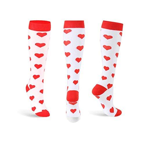 lquide Frauen Sport Compression Socks Lange Röhre Warme Skisocken Outdoor Wandern Socken Walking Sportsocken (3 Pairs) - Drei Walking-socken