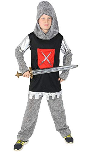 Foxxeo Ritterkostüm für Jungen Ritterrüstung Kinder Ritter Kostüm Größe 122-128