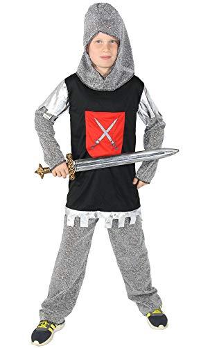 (Foxxeo Ritterkostüm für Jungen Ritterrüstung Kinder Ritter Kostüm Größe Größe:98/104)