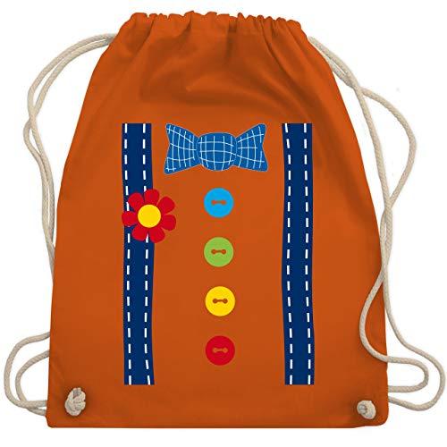 Kostüm Spaßmacher - Karneval & Fasching - Clown Kostüm blau - Unisize - Orange - WM110 - Turnbeutel & Gym Bag