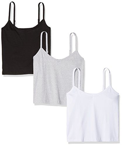 Simply Be Damen Pullunder Pack 3 Camisoles, 3, Multicoloured (Blk/Wht/Gml), 52