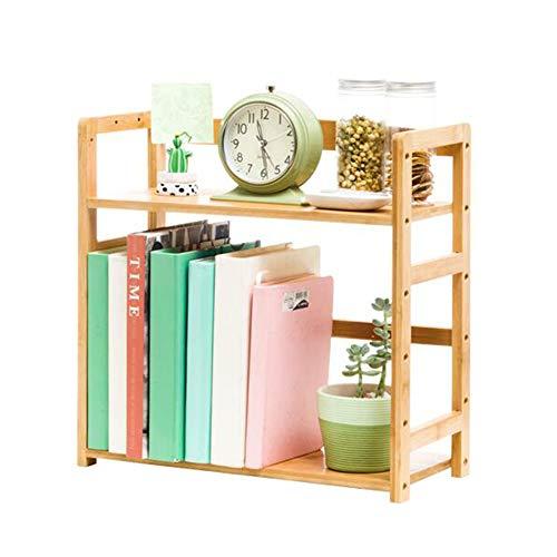 JCNFA Desktop-Bücherregal Trapezoidal Quadratischer Abschnitt Einstellbar Ausstellungsstand Heimtextilien, Bambus (größe : 15.74 * 7.48 * 16.92in) -